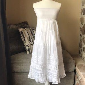 American Eagle Strapless White Eyelet Dress Size S